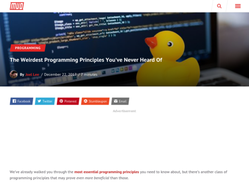 Image for: The Weirdest Programming Principles You've Never Heard Of