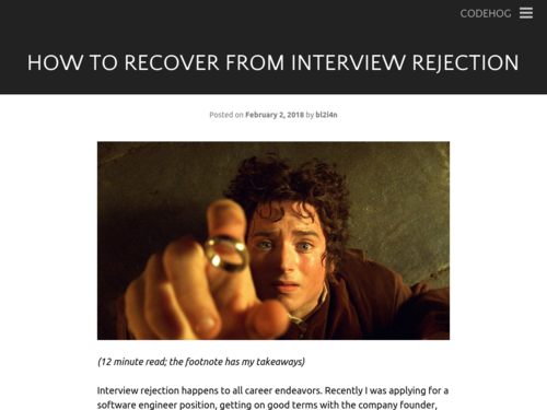 Image for: How to Recover from Interview Rejection