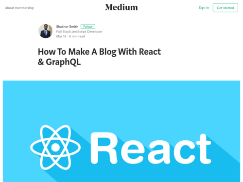 Image for: How To Make A Blog With React & GraphQL