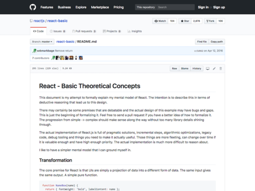 Image for: React - Basic Theoretical Concepts