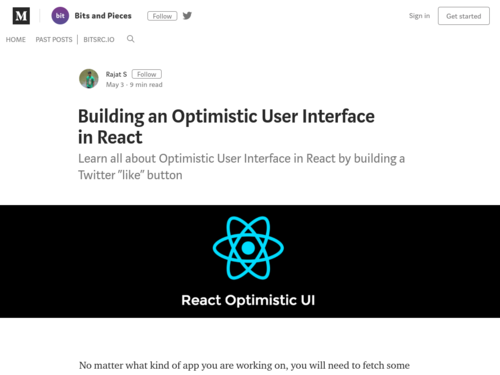 Image for: Building an Optimistic User Interface in React