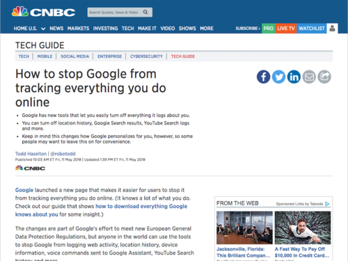 Image for: How to stop Google from tracking everything you do online