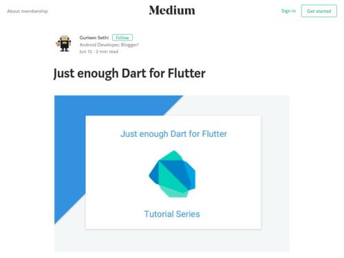 Image for: Just Enough Dart for Flutter