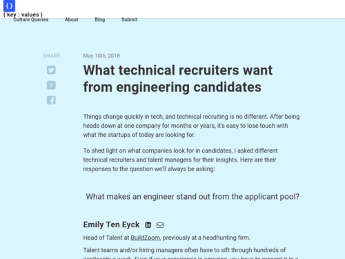Image for: What Technical Recruiters want from Engineering Candidates