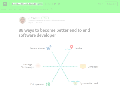 Image for: 88 Ways to Become a Better End to End Software Developer