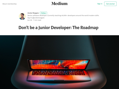 Image for: Don't be a Junior Developer: The Roadmap