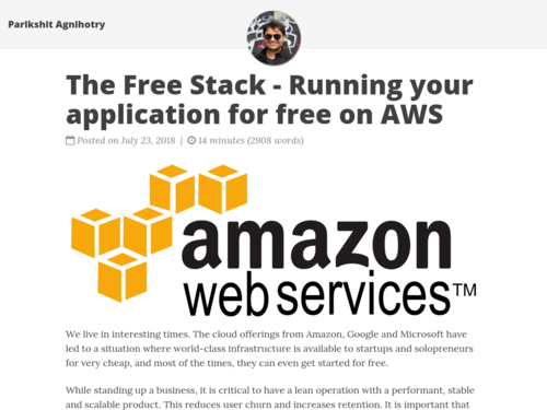 Image for: The Free Stack - Running your application for free on AWS