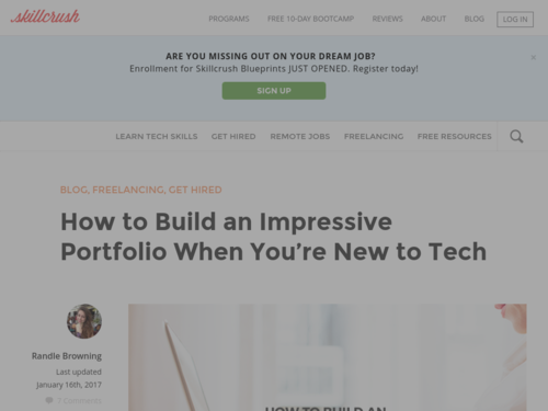 Image for: How to Build a Portfolio When You're New to Tech