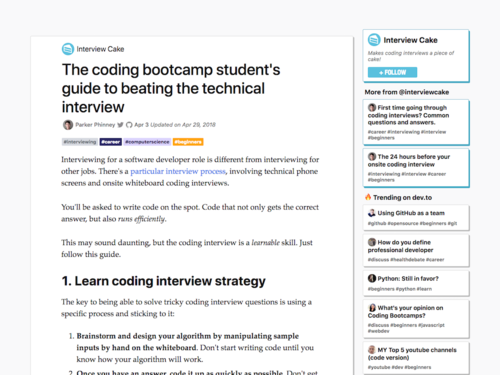 Image for: The coding bootcamp student's guide to beating the technical interview