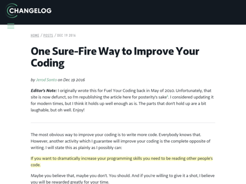 Image for: One Sure-Fire Way to Improve Your Coding