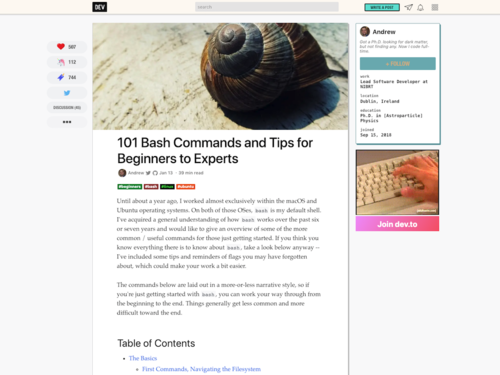 Image for: 101 Bash Commands and Tips for Beginners to Experts
