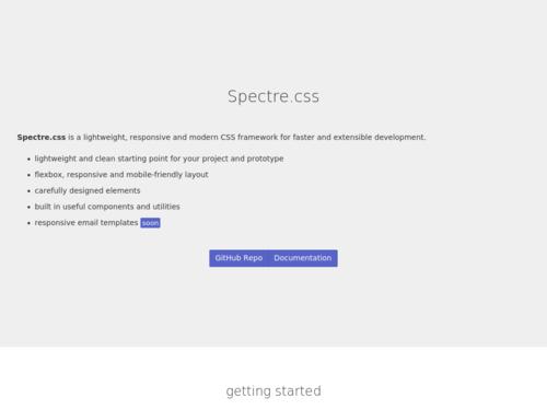 Image for: Spectre: Lightweight, Fast CSS Framework