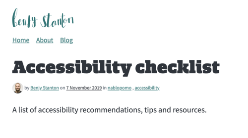 Image for: Accessibility Checklist
