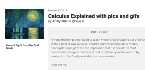 Image for: Calculus Explained with Pics and GIFs