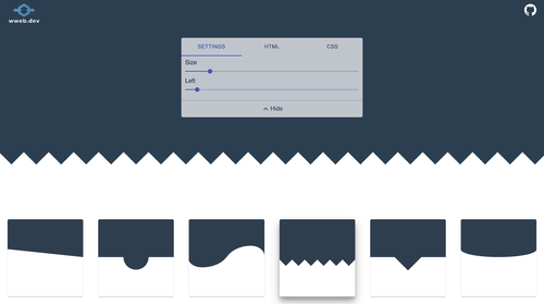 Image for: CSS Section Separator Generator