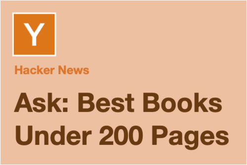 Image for: Ask: Best books under 200 pages for developers?