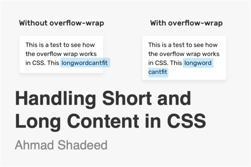 Image for: Handling Short and Long Content in CSS