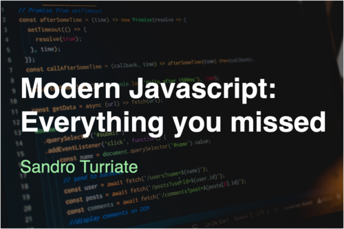 Image for: Modern Javascript: Everything you missed