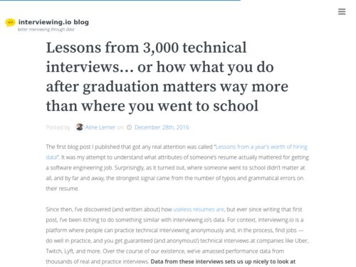 Image for: Lessons from 3000 Tech Interviews