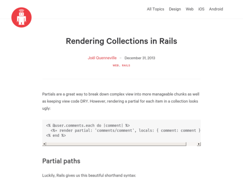 Image for: Rendering Collections in Rails