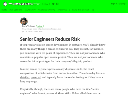Image for: Senior Engineers Reduce Risk