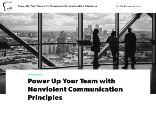 Image for: Power Up with Nonviolent Communication Principles