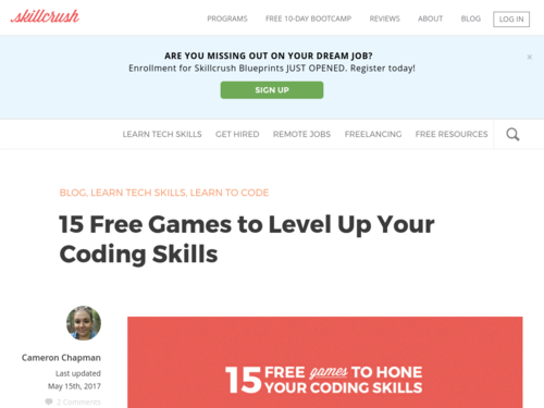 Image for: 15 Free Games to Level Up Your Coding Skills