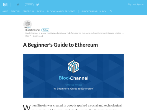 Image for: A Beginners Guide to Ethereum