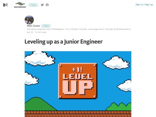 Image for: Leveling up as a Junior Engineer