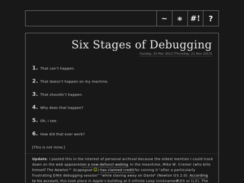 Image for: Six Stages of Debugging