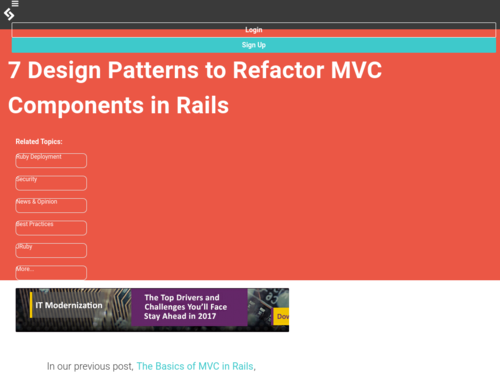Image for: 7 Design Patterns to Refactor MVC Components in Rails