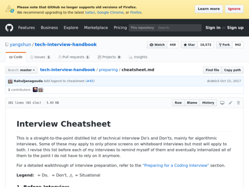 Image for: Tech Interview Cheatsheet