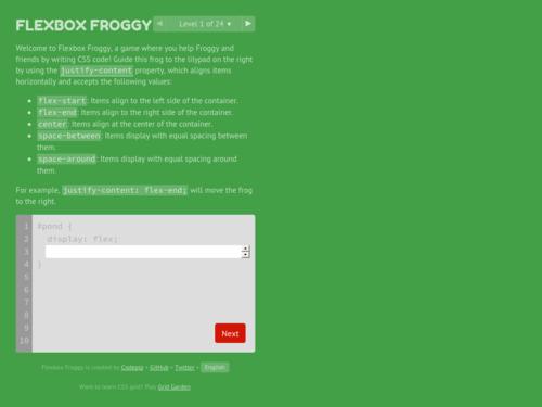 Image for: Flexbox Froggy - Learn CSS Flexbox