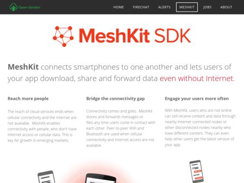 Image for: MeshKit: Share Data without Internet
