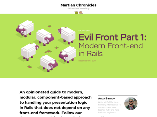 Image for: Modern Front-end in Rails